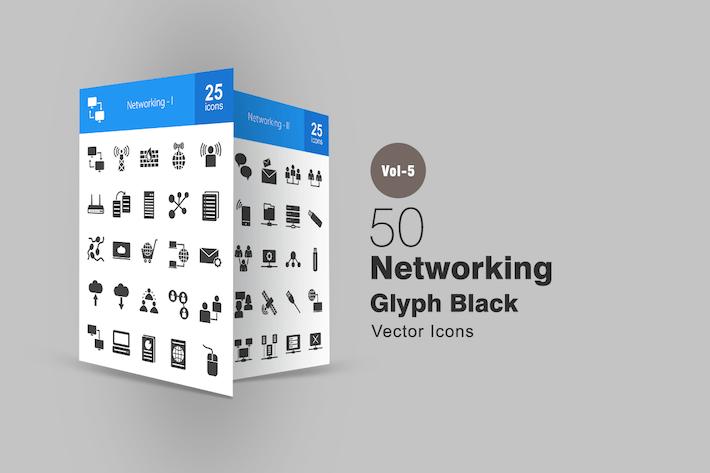 Thumbnail for 50 Icones de glyphe réseau