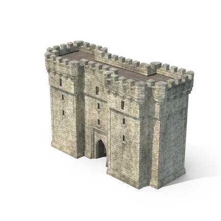Gatehouse with Open Portcullis
