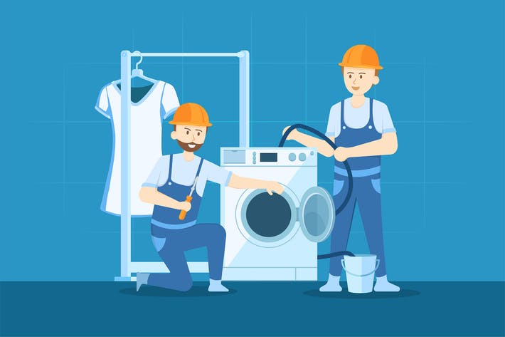 Thumbnail for Plumbers are fixing the washing machine