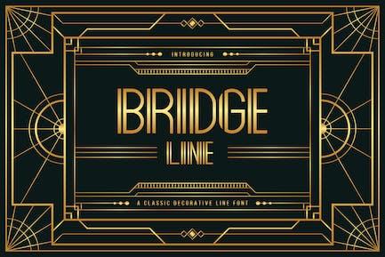 Puente Line - Art Deco Display Tipo de letra