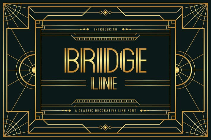 Thumbnail for Bridge Line - Art Deco Display Typeface