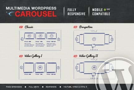Multimedia Responsive Carousel - WordPress Plugin