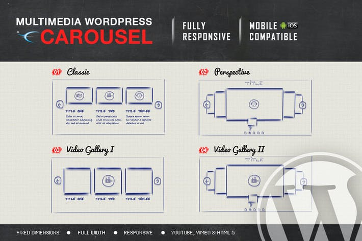 Multimedia Responsive Carousel - WordPress Plugin
