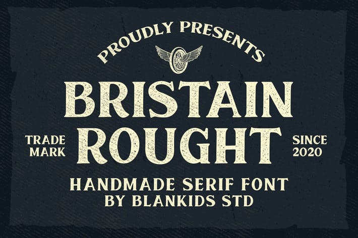 Thumbnail for Bristain Rought Serif Font