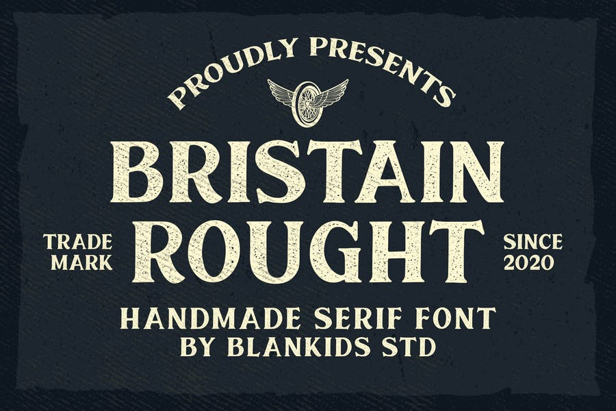 Bristain Rought Serif Font