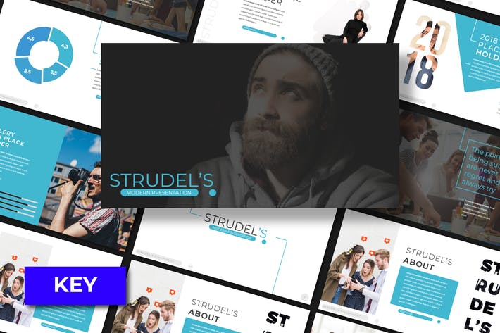 Thumbnail for Strudel's Keynote Template