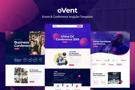 Ovent - Angular 11 Event Conference & Meetup Templ