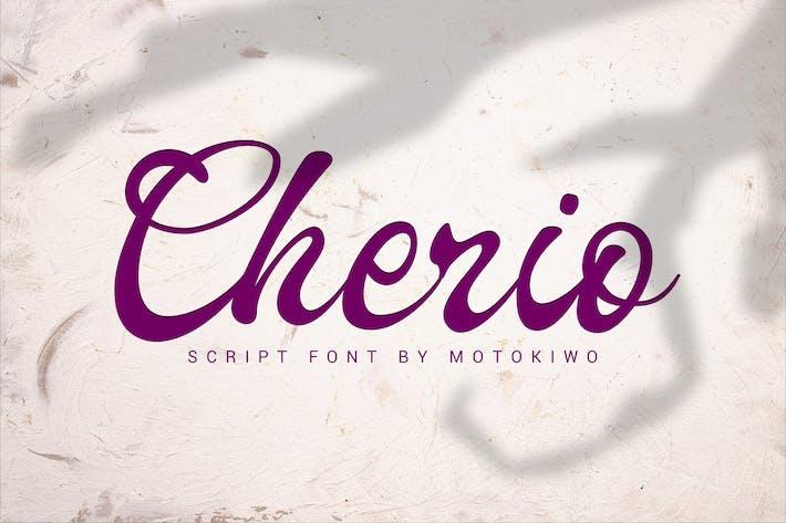 Thumbnail for Cherio - Handmade Font