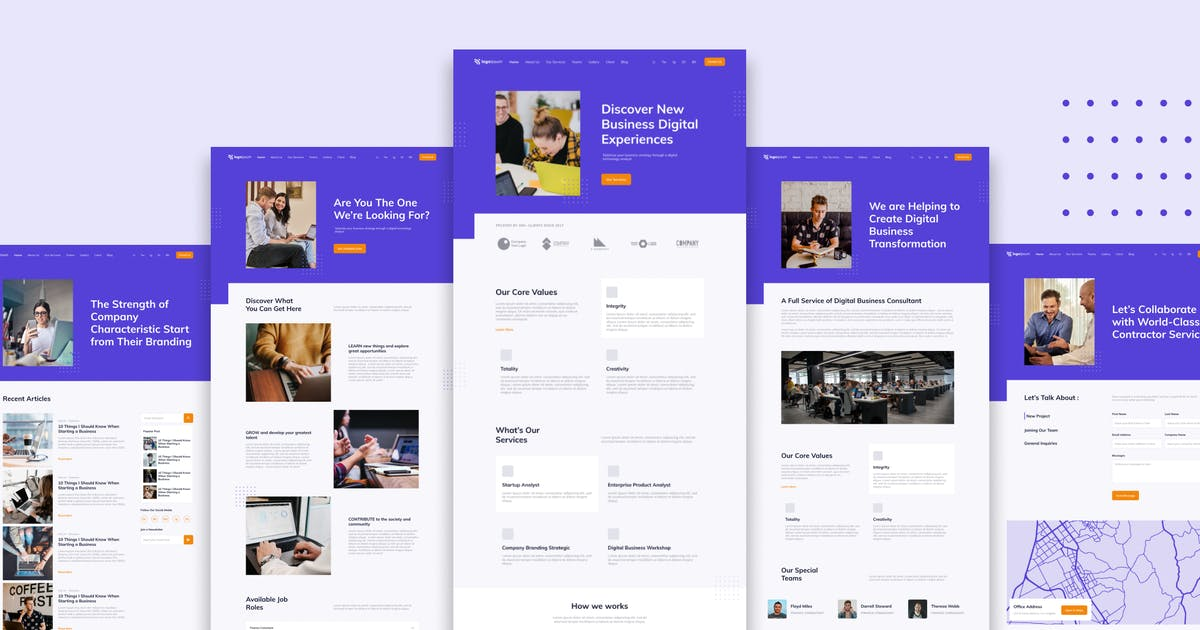 Download Corporate Business Website Template by TanahAirStudio