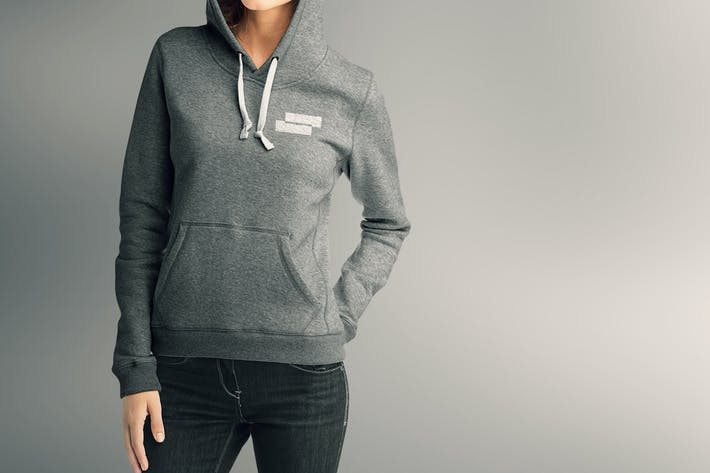 Cover Image For Woman Hoodie Mock-up