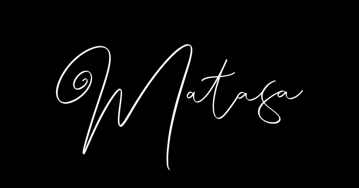 Download Matasa - The Fancy Script by graptailtype