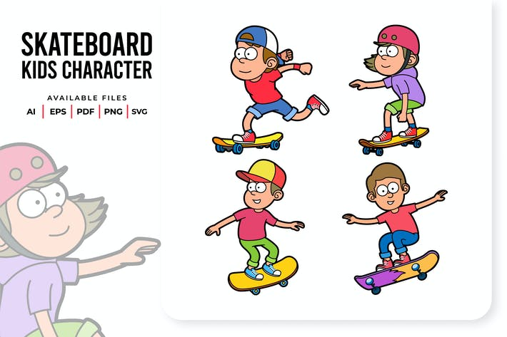 Thumbnail for Skateboard Kids Charakter