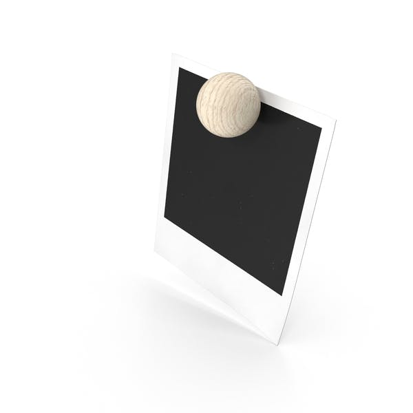Blank Picture Held by Magnet