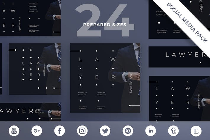 Thumbnail for Legal Services Social Media Pack Template