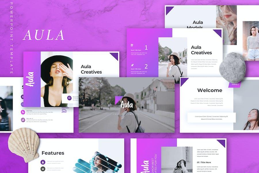 AULA - Fashion Powerpoint Template