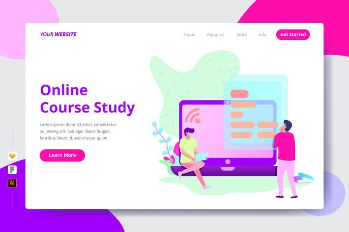 Thumbnail for Online Course Study - Landing Page