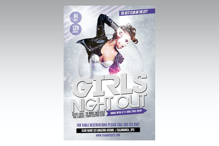 Thumbnail for Girls Night Out Flyer Poster
