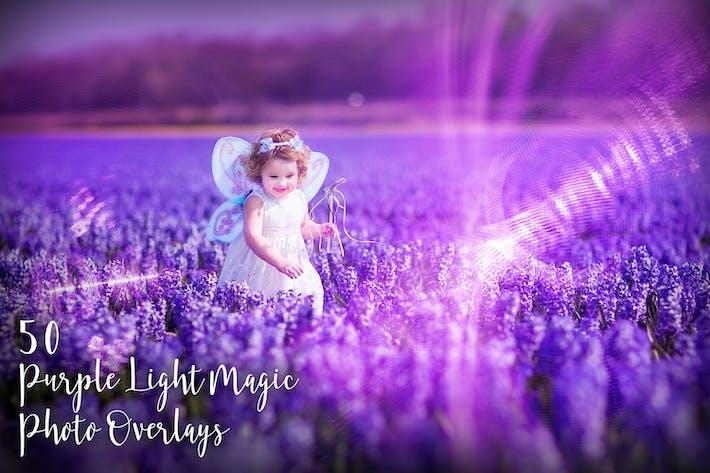 50 Фиолетовый свет Магия Фото Наложения