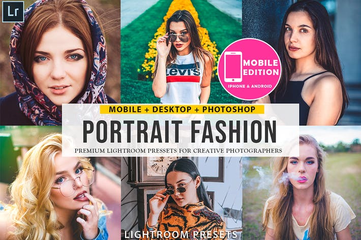 Thumbnail for Portrait Fashion Lightroom Presets