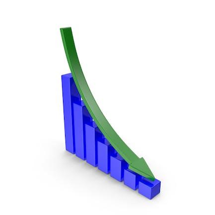 Gráfico hacia abajo