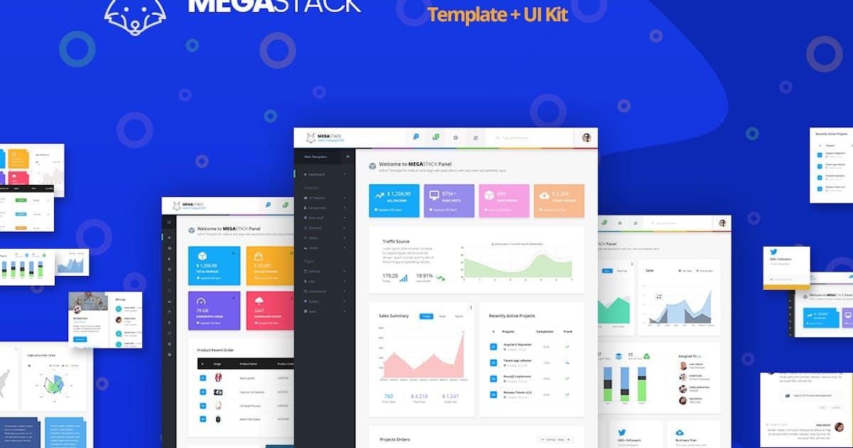 Download Megastack Admin Dashboard Template + UX & UI Kit by websroad