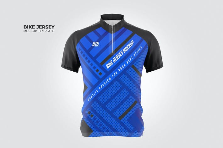 Bike Jersey Mock-Up Template