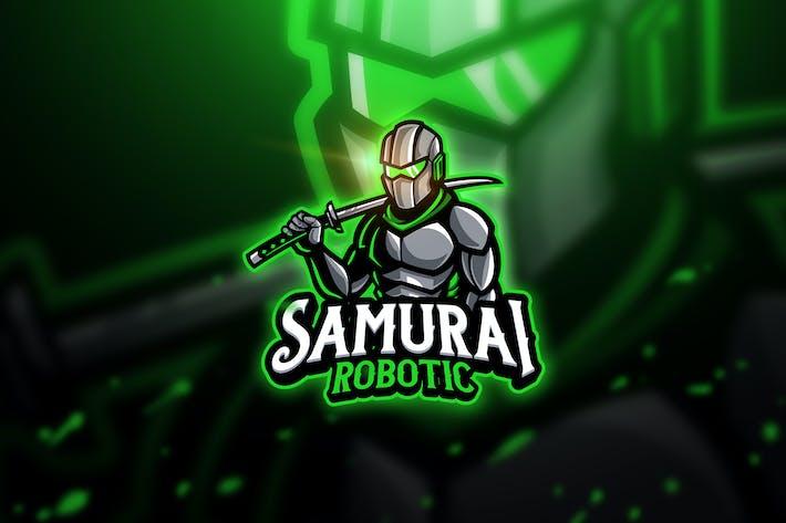 Thumbnail for Samurai Robotic - Mascot & Esport Logo