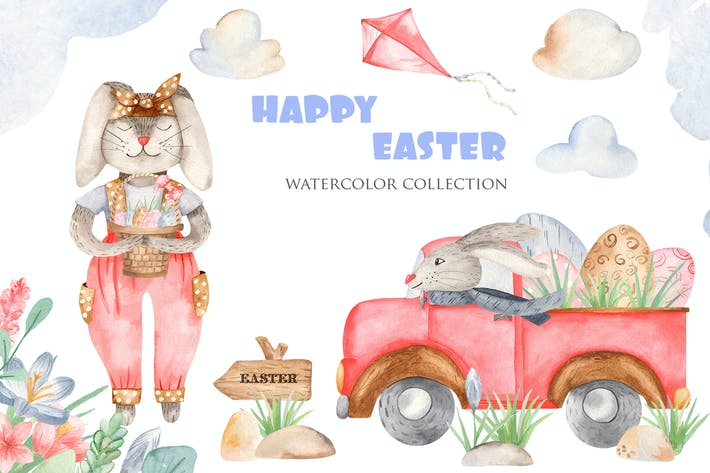 Thumbnail for Watercolor Happy Easter