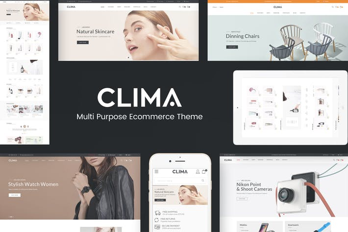 Cover Image For Clima - Multipropósito Prestashop Responsive Tema