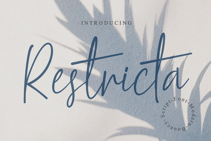 Thumbnail for Restricta - Signature Font