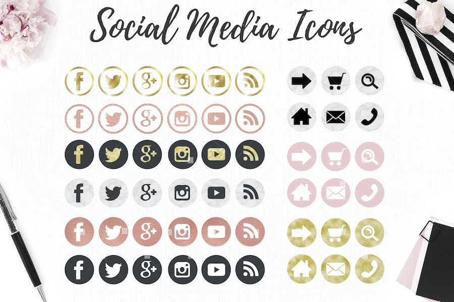 Web and social icons