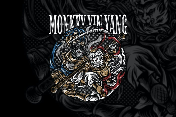 Thumbnail for Monkey Fighters Yin Yang