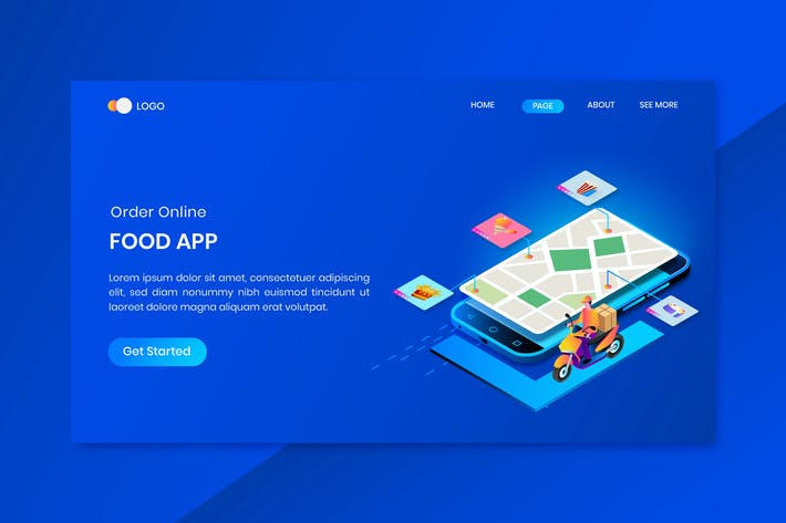 Thumbnail for Shipper Online Isometric Concept Landing Page