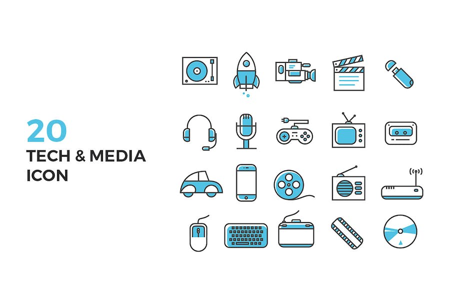 Tech and Media Icons