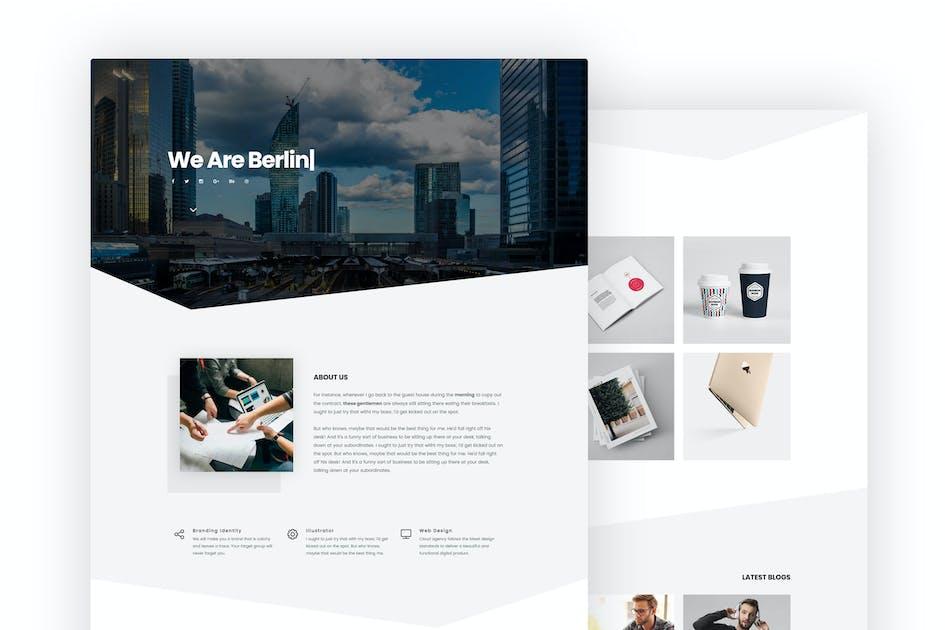 Download Berlin Portfolio Template by tavonline