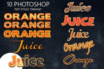 10 Orange Photoshop Styles