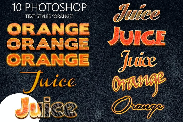 Thumbnail for 10 Orange Photoshop Styles