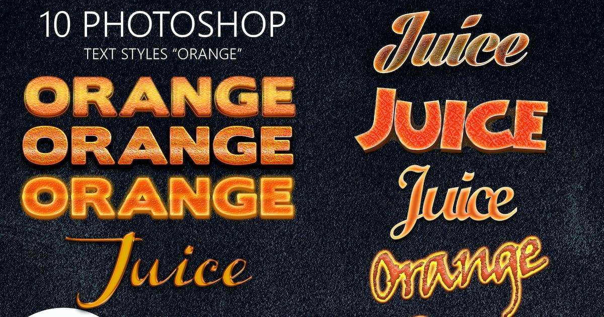 Download 10 Orange Photoshop Styles by pozitivo