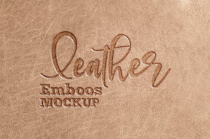 Thumbnail for Leather Emboss Logo Mockup