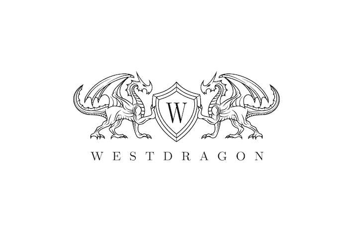 Twin Dragon Shield Logo