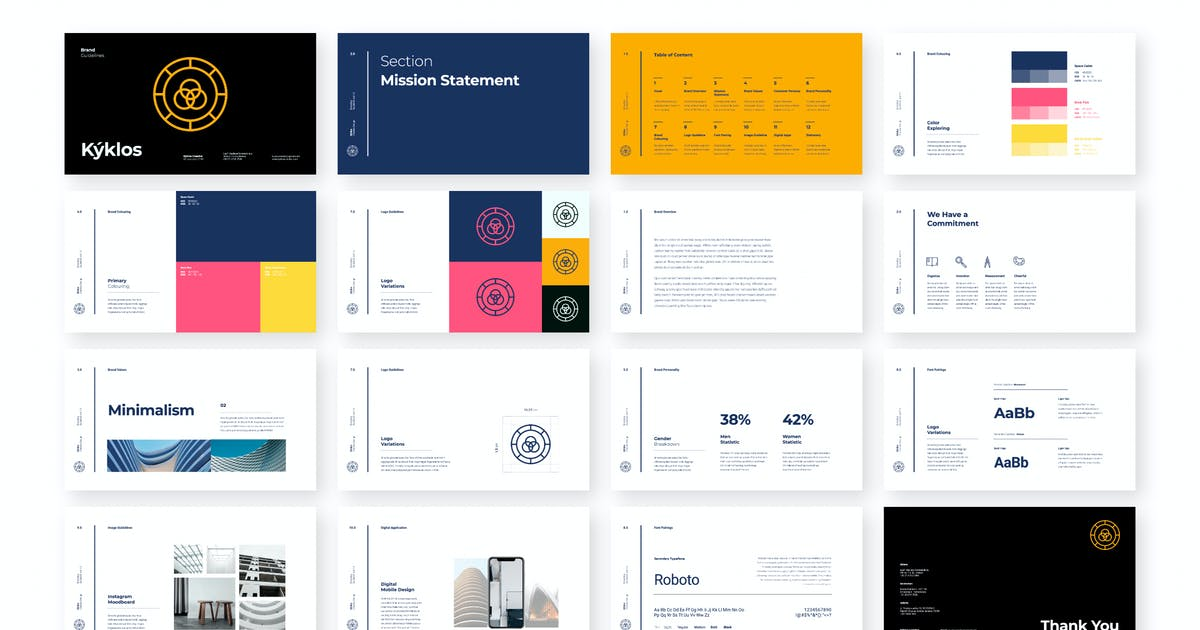 Download Kyklos - Brand Guidelines PPT by celciusdesigns