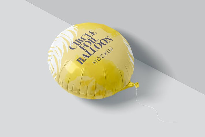 Circle Foil Balloon Mockups