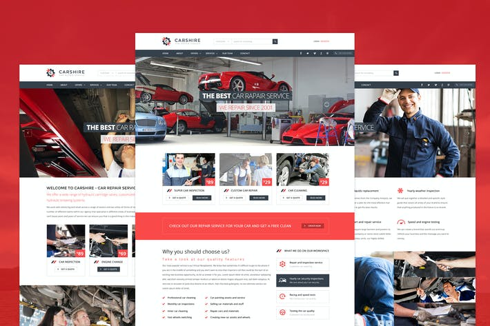 Cover Image For Car Shire - Auto Mechanic & Car Repair Template