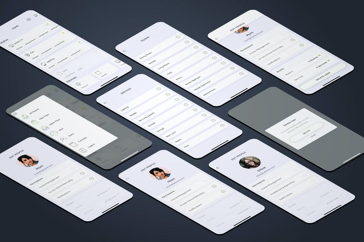 Users - Smarthome Mobile UI - FP