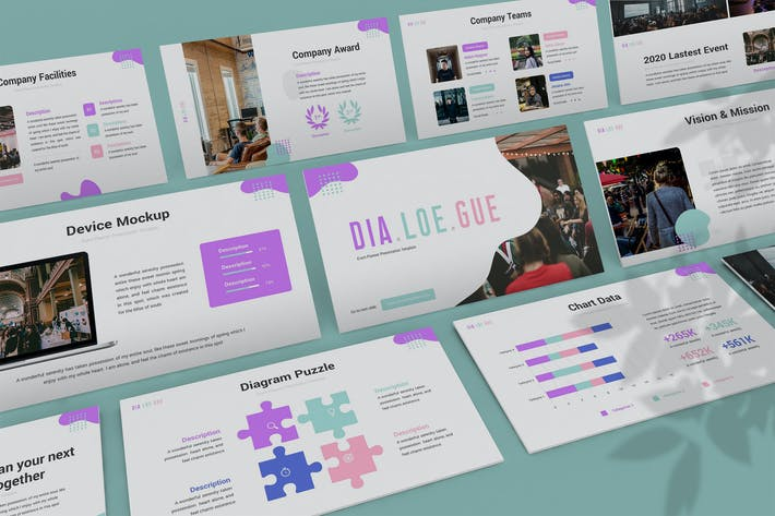 Thumbnail for Dialoegue - Creative Powerpoint Template