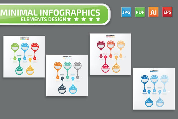 Thumbnail for Minimal infographic Design