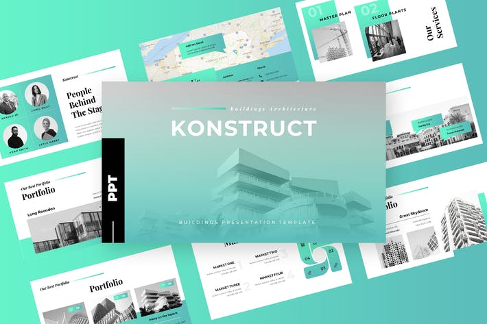 Thumbnail for Konstruct - Architecture Powerpoint Presentation