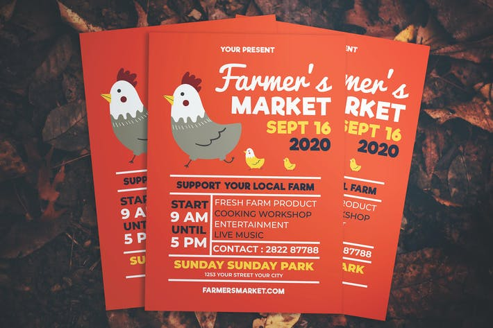 Thumbnail for Simple Farmers Market Flyer