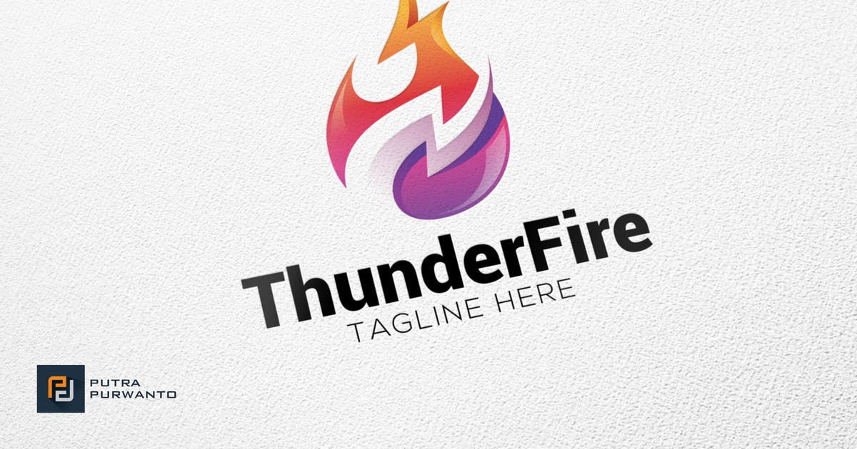 Download Thunder Fire - Logo Template by putra_purwanto