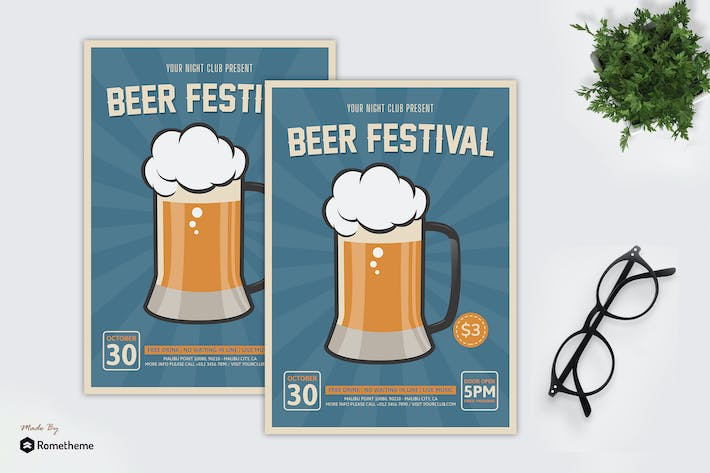 Thumbnail for Beer Festival v2 - Party Flyer RB